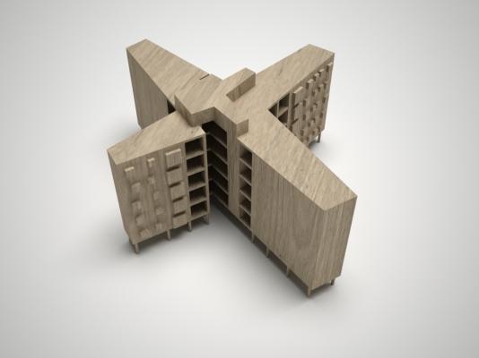 Bloque de apartamentos 3D