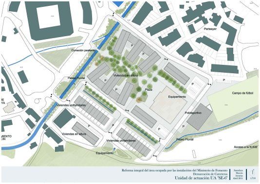 Proyecto de urbanización Morcín. Plano detalle