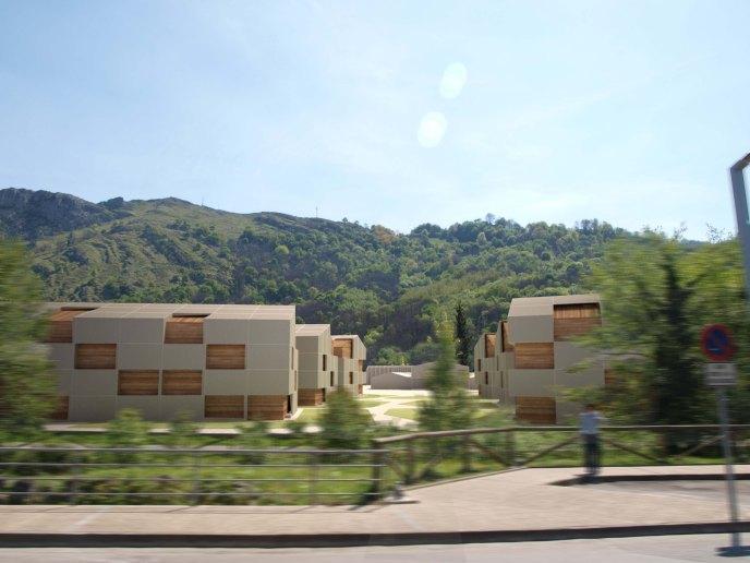 Proyecto de urbanización Morcín. Vista de las viviendas